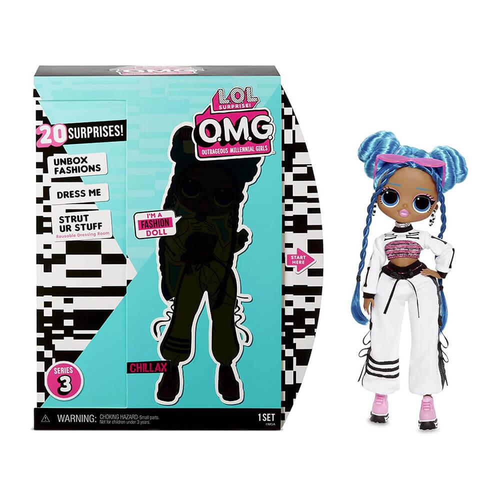 Большая кукла LOL Surprise OMG Chillax Fashion Doll с 20 сюрпризами (3 серия)